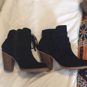 Sole society booties black worn once